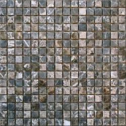 Barna 15x15x7 mm mozaik