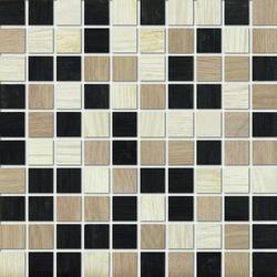Marazzi Treverk M7W7 Mosaico Treverk White / Capucciono / Black üvegszálas ragasztott mozaik 30 x 30 cm