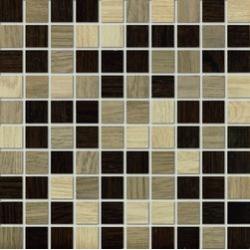 Marazzi Treverk M7W8 Mosaico Treverk Beige / Teak / Wengé üvegszálas ragasztott mozaik 30 x 30 cm