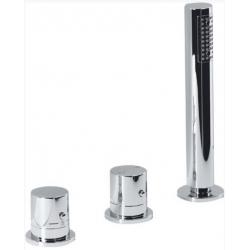 Sapho TH102 3 részes termosztátos kádperemre szerelhető kád csaptelep